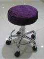 Velvet Small Round Stool for Beauty Salon-Beauty10-2