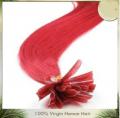 Top Quality brazilian red tip hair /nail tip hair-Thousand10-4