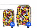 Eminent 20 inch Cabin Size Name Brand ABS PC Super Light Luggage With Butterfly Printing-BL1-5