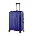 Color Printing TSA LOCK Spinner Portable Solar Purple Suitcase-BL7-3