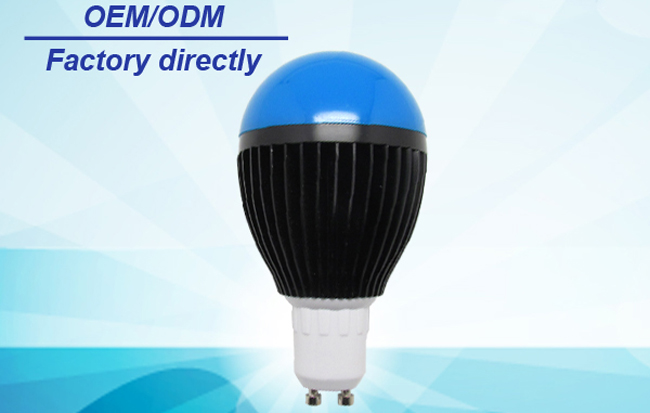 2014 new cob led light bulb 5w GU10 Black body blue PC cover Livisionled1-12